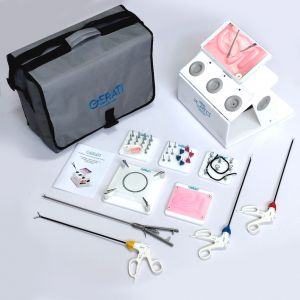 GERATI Laparoscopic Trainer boxLaparoscopic Simulator with exercises and Instruments
