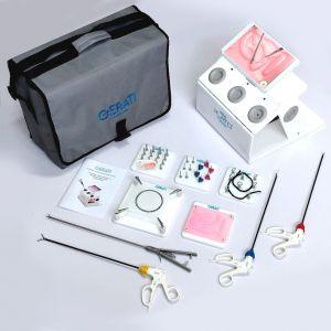 GERATI Laparoscopic Trainer boxLaparoscopic Simulator with exercises and Instruments